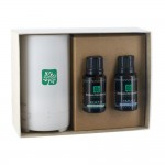 Electronic Diffuser with Two Essential Oil 15 Ml. Dropper Bottles in Gift Box Custom Imprinted