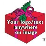 Custom Printed Christmas Gift Box Bumper Sticker