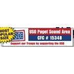 "4-Color Process Rectangle Bumper Stickers (3""x11 1/2"") Logo Imprinted"