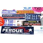 "Logo Imprinted Spot Color Rectangle Bumper Stickers (3 3/4""x11 1/2"")"