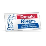 """Logo Imprinted Clear Polyester Rectangle Bumper Sticker (3 3/4""""x7 1/2"""")"""