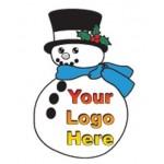 Logo Imprinted Snowman Bumper Sticker