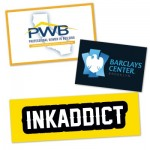 """Water resistant Rectangle Custom Stickers (5""""x 10"""") Logo Imprinted"""