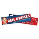 """Custom Imprinted Political Campaign Bumper Sticker Decal (10.5""""x2.625"""")"""