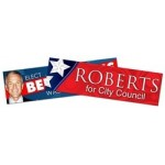 "Political Campaign Bumper Sticker / Decal - UV-Coated Vinyl - 8.625""x2.5"" Logo Imprinted"