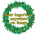 Christmas Wreath Bumper Sticker Custom Printed