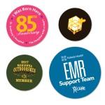 "Logo Imprinted Water resistant Circle Custom Stickers (4"")"