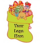 Custom Imprinted Stocking Toy Bag Bumper Sticker