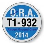 "White Reflective Circle Parking Permit Decal (2 1/2"" Diameter) Custom Printed"
