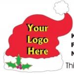 Custom Imprinted Santa Hat Bumper Sticker