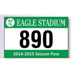 """Logo Imprinted White Reflective Parking Permit Decal (3 1/2""""x 2 1/4"""")"""