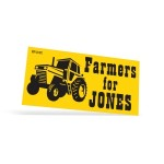 """Logo Imprinted Vinyl Ultra Removable 1 Day Bumper Stickers 1 Color (3 3/4""""x7 1/2"""")"""