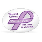"""Clear Polyester Oval Bumper Sticker (4""""x6"""") Custom Imprinted"""