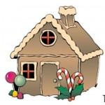 Gingerbread House Bumper Sticker Logo Imprinted