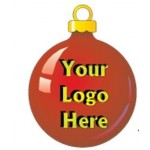 Custom Printed Christmas Ball Bumper Sticker