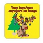 Custom Imprinted Reindeer Bumper Sticker