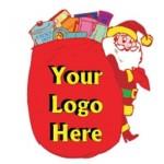 Custom Printed Santa's Toy Bag Bumper Sticker