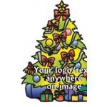Custom Printed Christmas Tree Bumper Sticker