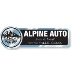 "Custom Imprinted Chrome Polyester Auto Ad Decal (5.791""x 1.912"")"