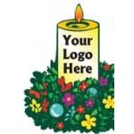 Custom Printed Christmas Candle Bumper Sticker