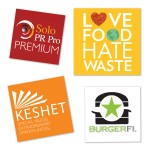 """Logo Imprinted Water resistant Square Custom Stickers (3""""x 3"""")"""