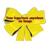 Christmas Bow Bumper Sticker Custom Imprinted