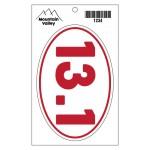 "Face-Cut Oval Vinyl Bumper Sticker w/Peg Hole (4"" x 6"") Custom Imprinted"