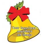 Custom Printed Christmas Bell Bumper Sticker