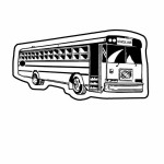 Custom Imprinted School Bus 3 Key Tag (Spot Color)