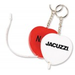 Heart Tape Measure Key Tag Custom Imprinted