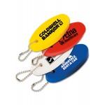 Floating Oval Key Tag Custom Imprinted