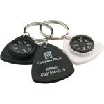 Custom Imprinted Triangle Compass Key Chain