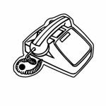 Phone w/o Keypad Key Tag - Spot Color Logo Imprinted