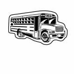 Logo Imprinted School Bus 2 Key Tag (Spot Color)