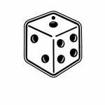 Dice Key Tag - Spot Color Logo Imprinted