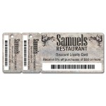 Custom Printed Loyalty Wallet Card & Tags Key Tag - Full Color