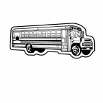 School Bus 1 Key Tag (Spot Color) Custom Imprinted