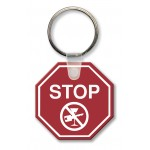 Stop Sign Key Tag (Spot Color) Logo Imprinted
