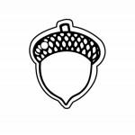 Acorn Key Tag (Spot Color) Custom Imprinted