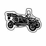 Logo Imprinted Classic Car 1 Key Tag (Spot Color)