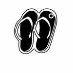 Sandals Key Tag - Spot Color Custom Imprinted