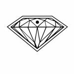 Diamond Key Tag - Spot Color Logo Imprinted