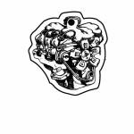 Engine 1 Key Tag (Spot Color) Logo Imprinted