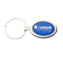 Dome Key Chain Oval Custom Printed
