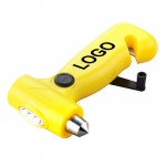 Custom Imprinted 3-in-1 Safety Hammer With Cutter And Hand Power Light