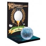 """7"""" Crystal Golf Award Custom Etched"""