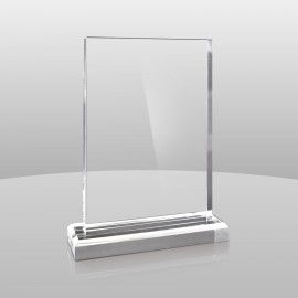 "Logo Imprinted Clear Rectangular Award (7""x5""x2"")"