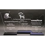 """Great State of Mississippi Award w/ Black Base - Acrylic (8 3/4""""x4"""") Laser-etched"""