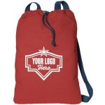 Canvas Cinch Pack Custom Embroidered