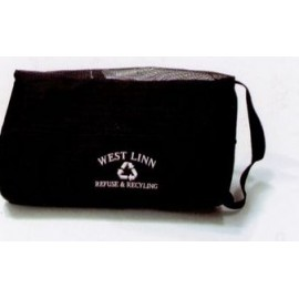 Black Polyester Shoe Tote Bag - Embroidered